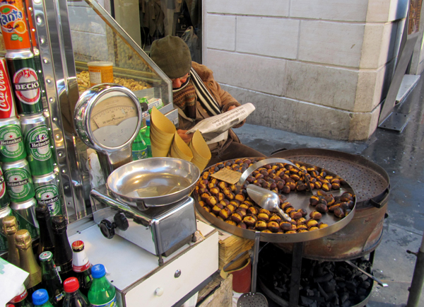 roasted chestnuts in Rome